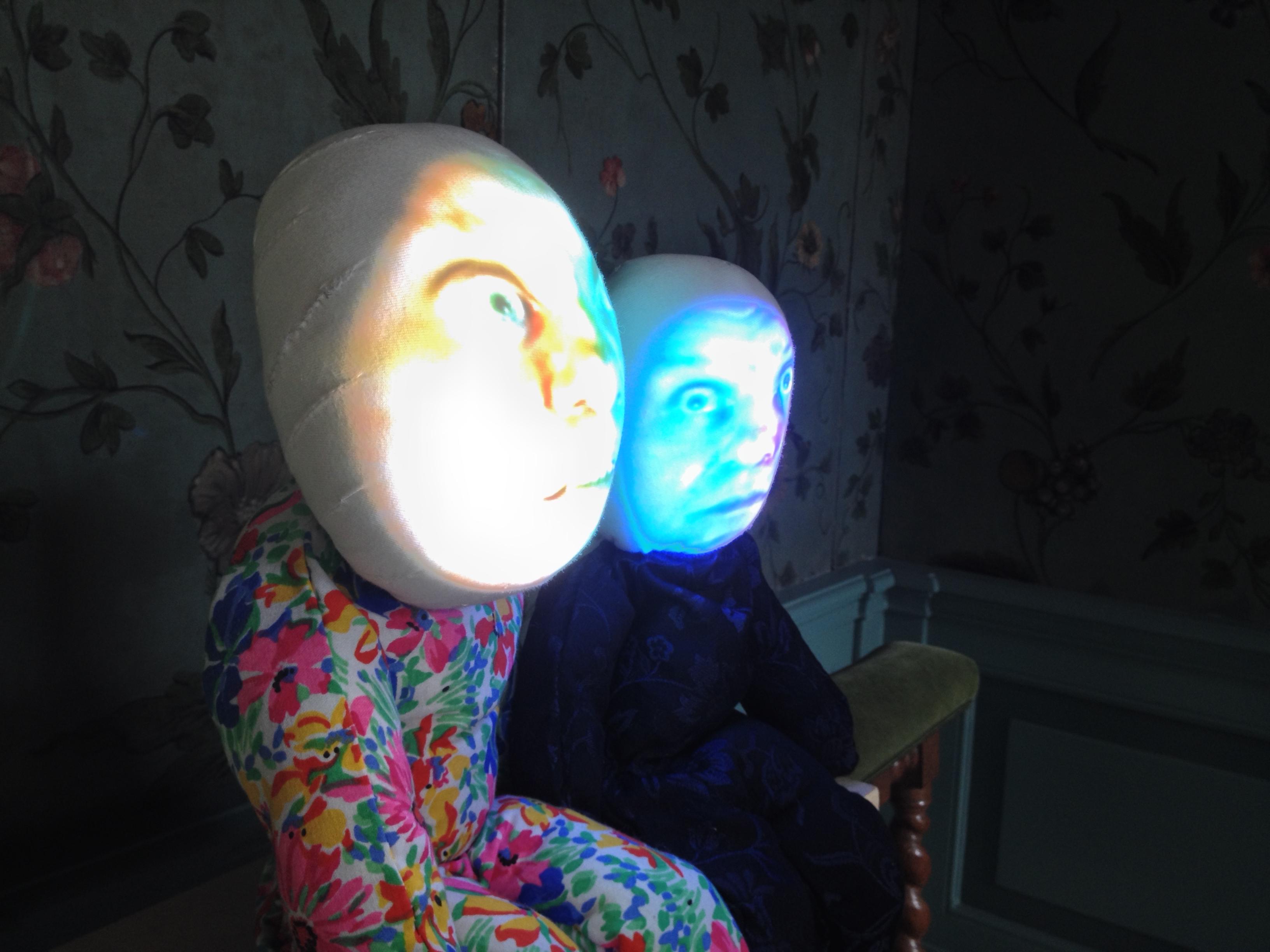 'Two Dolls'  Tony Oursler/ Oude Kerk nov 2014